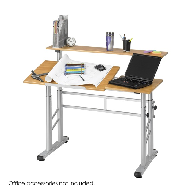 Merveilleux Height Adjustable Split Level Drafting Table ...